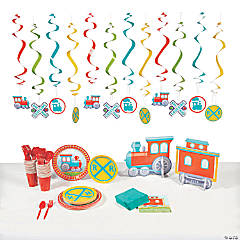 Train Party Tableware Kit for 8 Guests