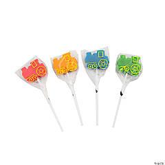 Train-Shaped Lollipops