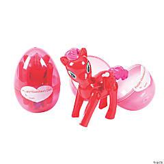 Transforming Valentine Unicorn-Filled Plastic Eggs
