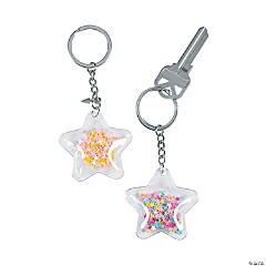 Transparent Confetti Star Keychains