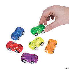 Transparent Mini Pullback Cars