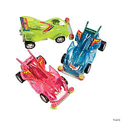 Transparent Neon Friction Racers PDQ