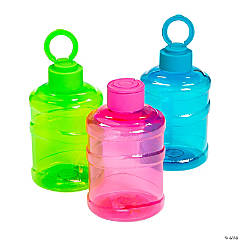 Transparent Neon Water Bottles with Lids
