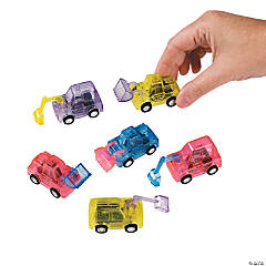 Transparent Pull-Back Construction Vehicles