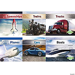 Transportation - English Book Set, Set of 6