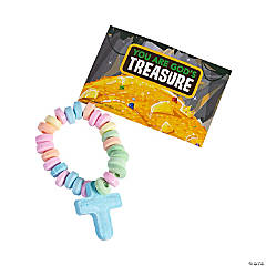 Treasure Hunt VBS Candy Bracelets with Sticker