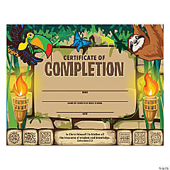 Treasure Hunt VBS Certificates of Completion
