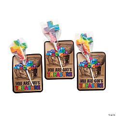 Treasure Hunt VBS Cross-Shaped Swirl Lollipops with Card