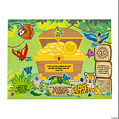 Treasure Hunt VBS Sticker Scenes with 5 Verses