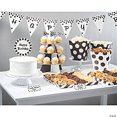 Treat Table Black & White Decorating Kit