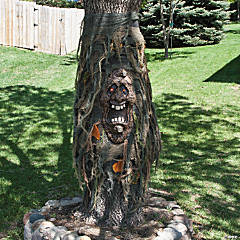 Tree Ghost with Light-Up Eyes Halloween Decoration