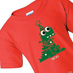 Tree Rex Youth Christmas T-Shirt - Extra Large