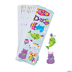 Trendy Animal Easter Sticker Sheets