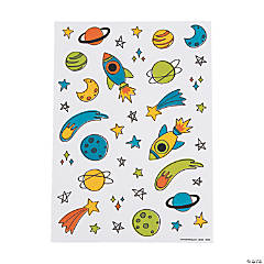 Trendy Space Sticker Sheets