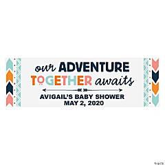 Tribal Baby Shower Personalized Vinyl Banner - Medium
