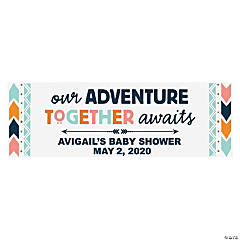Tribal Baby Shower Personalized Vinyl Banner - Small