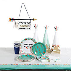 Tribal Boho Baby Shower Tableware Kit for 8 Guests