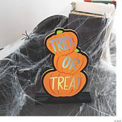 Trick-or-Treat Pumpkin Tabletop Sign Halloween Decoration