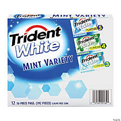 Trident White Mint Gum Variety, 12 Pack