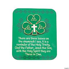 Trinity Shamrock Pins with Card