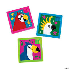 Tropical Bird Slide Puzzles
