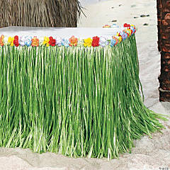 Tropical Flowered Table Skirt