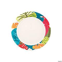 Tropical Leaf Paper Dessert Plates - 8 Ct.