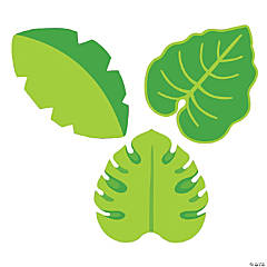 Tropical Leaves Bulletin Board Cutouts