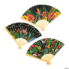 Tropical Nights Folding Hand Fans