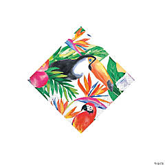 Tropical Palm Luau Beverage Napkins