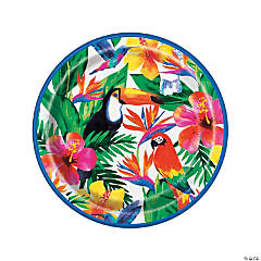 Tropical Palm Luau Paper Dinner Plates - 8 Ct.