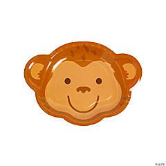 Tropical Party Monkey Dessert Plates - 8 Ct.