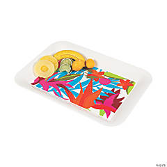 Tropical Plastic Serving Tray