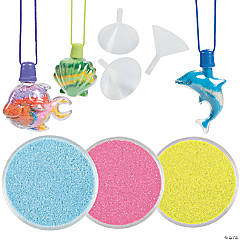 Tropical Sand Art Necklaces & Sand Kit