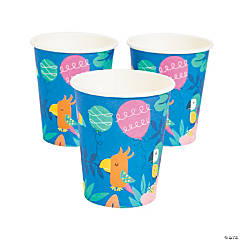 Tropical Toucan & Parrot Cups