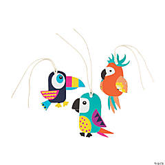 Tropical Toucan & Parrot Gift Tags