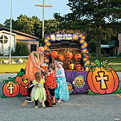 trunk or treat shine gods light dcor idea