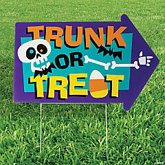 Trunk-Or-Treat Yard Sign