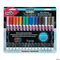 Tulip® 15 Pc. Opaque Rainbow Fabric Markers
