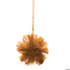 Tulle Gold Pom-Pom Decorations