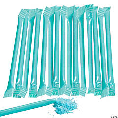 Turquoise Candy-Filled Straws