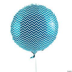Turquoise Chevron Mylar Balloon