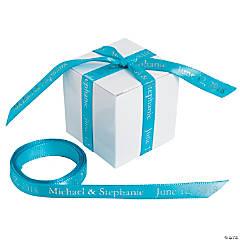 "Turquoise Personalized Ribbon - 3/8"""