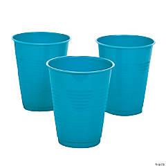 Turquoise Plastic Cups - 20 Ct.
