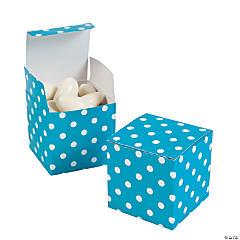 Turquoise Polka Dot Gift Boxes