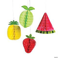 Tutti Frutti Fruit Honeycomb Hanging Decorations