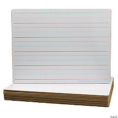 Two-Sided Dry Erase Board, Plain/Ruled, 9