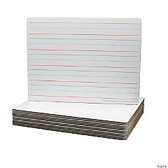 Two-Sided (Red & Blue Ruled/Blank) Dry Erase Board, 9