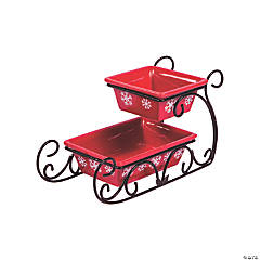 Two-Tiered Sleigh Serving Dish