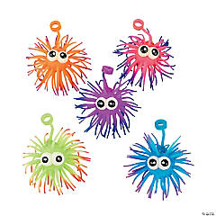 Two-Tone Spike Yo-Yo Balls with Eyes PDQ
